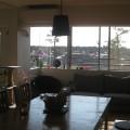 食堂より窓を見たところ